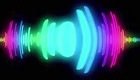 彩色流光风格动感电音舞曲酒吧夜场演艺表演开场转场背景