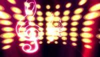 粒子风格3D音符流动唯美背景