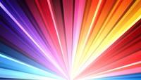 流光风格彩虹激光束旋转唯美背景