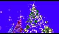流光风格3D圣诞树节日庆典唯美背景