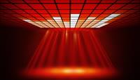 光线与格子顶棚动态素材 Crimson Beam HD