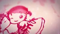 中国风喜庆红色主题婚礼场景花瓣渲染开场片头会声会影模板