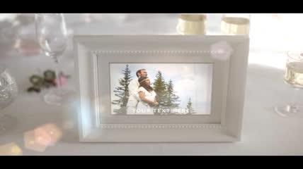 清新雅致的婚礼相册模板素材