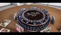生日快乐\-蛋糕周围的相框展示效果
