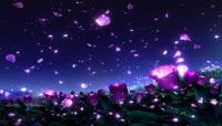 飘飞紫色花瓣