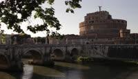 4K古城教堂河流桥梁1