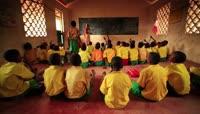 4K非洲肯尼亚黑人学生上课学习课堂教学1