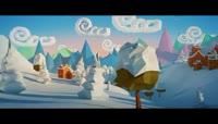 三维效果圣诞节卡通场景素材