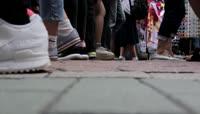 HD脚步人群行走慢镜