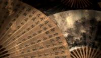 中国元素视频文字扇子