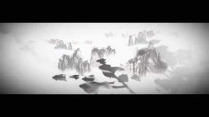 水墨画风景视频