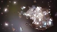 LED大屏幕背景视频素材 科技机械银色水晶浪漫视频素材1
