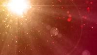 金黄色黄昏粒子阳光视频素材