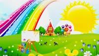 漂亮彩虹儿童游乐园卡通LED模板