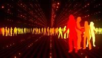 人物剪影舞蹈视频素材