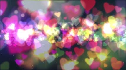 唯美温馨爱心粒子LED视频