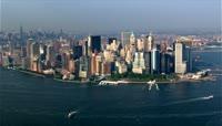 航拍繁华城市街景