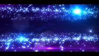 蓝色光效粒子视频