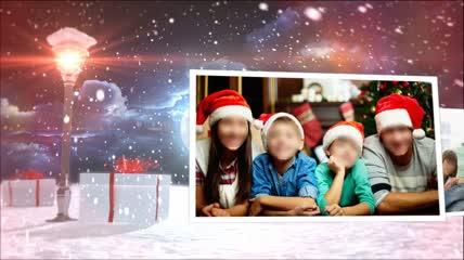 会声会影X6模板 粒子光效圣诞片头