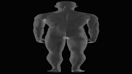 医学X射线人身体解剖学视频素材