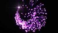 紫色童话粒子星光视频素材