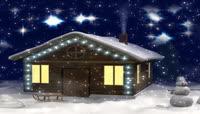 LED冬季高清视频素材