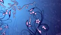 粉蓝色高清花朵动态背景