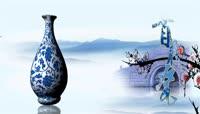 中国风青花瓷歌舞晚会背景视频