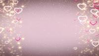 星光坠落的爱心边框循环视频素材