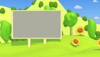 幸福夏日卡通动态视频素材片头包