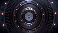 旋转的环形金属隧道素材