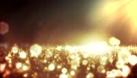 跳动的金色粒子及光斑 婚礼片头