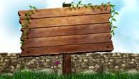 花园木板指示牌logo演绎