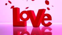 流光风格3D玫瑰LOVE唯美背景