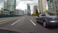 上海高架 高速车流实拍