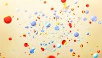 动感彩色小球随机运动视频