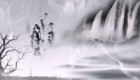 中国风瀑布动态视频素材片头