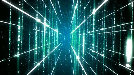 流光风格3D科技激光束酷炫背景