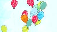 Balloon Doodle LED动态视频素材