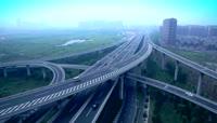 城市立交桥延时摄影