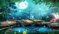 唯美梦幻森林LED背景动态大屏主视觉