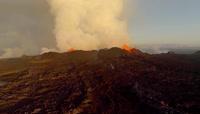 震撼壮丽火山喷发视频素材