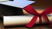 学士帽毕业证等毕业典礼视频素材3