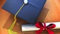 学士帽毕业证等毕业典礼视频素材5