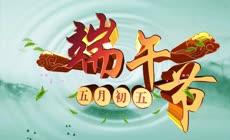 中国水墨风大气三维字体端午节视频