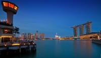 旅游城市夜景航拍