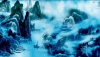 彩色水墨山水风景