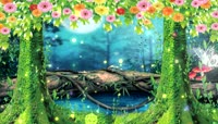 梦幻森林蝴蝶飞舞LED动态背景视频素材