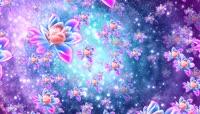 大气唯美粒子莲花LED大屏视频素材