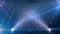 蓝色弧形旋转舞台LED背景视频
